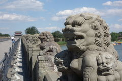 Peking, China, Marco Polo Bridge lizenzfreie stockbilder