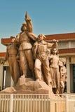 Peking China 06 06 2018 Monument voor het Mausoleum van Mao op Tiananmen-Vierkant stock fotografie