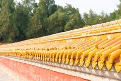 PEKING, CHINA - 18. Oktober 2015: Dach am Tempel von Erde (Ditan) A Lizenzfreie Stockbilder