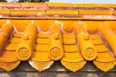 PEKING, CHINA - 18. Oktober 2015: Dach am Tempel von Erde (Ditan) A Lizenzfreie Stockfotos