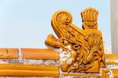 PEKING, CHINA - 18. Oktober 2015: Dach am Tempel von Erde (Ditan) Stockbilder