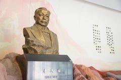 PEKING, CHINA - 17. Oktober 2015: Zhan Tianyou Statue bei Zhan Tianyo Stockbild