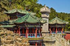 Peking, China - Sommer-Palast, historische Gebäude lizenzfreie stockbilder