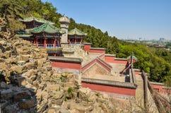 Peking, China - Sommer-Palast, historische Gebäude lizenzfreie stockfotos