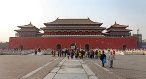Peking, de Verboden Stad Stock Foto's