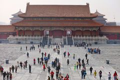 Peking, de Verboden Stad Stock Afbeelding