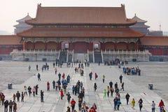 Peking, die verbotene Stadt Stockbild