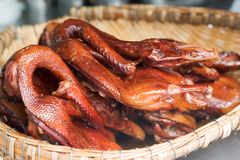 Peking duck in a basket. Chengdu, China Royalty Free Stock Photos