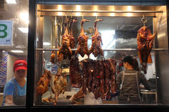 Peking duck in China town cafe, NYC, USA Stock Photography