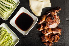 Peking Duck. China traditional food. Restaurant. Top view. Close up Royalty Free Stock Image
