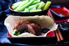 Peking Duck. Chinese cuisine. selective focus Royalty Free Stock Photos