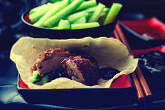 Peking Duck. Chinese cuisine. selective focus.image is tinted Stock Photos