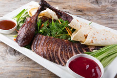 Peking duck dish Stock Photo