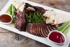 Peking duck dish Royalty Free Stock Photo
