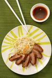 Peking duck on plate Royalty Free Stock Photos
