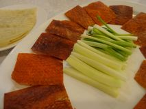 Peking duck plate Stock Photos