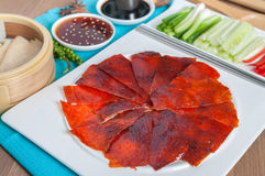 Peking Duck ready to serve Royalty Free Stock Images
