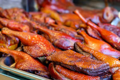 Peking duck roasted for sale at Thai market Stock Photo