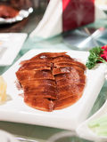 Peking duck skillfully cut and reassembled Stock Photography