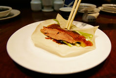 Peking Duck Wrap stock images