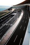 Peking-Flughafen-Straßen Stockfotos