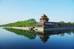 Peking Forbidden City i klar blå himmel Arkivbild