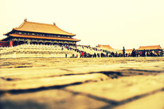 Peking Forbidden City, Kina Arkivfoton