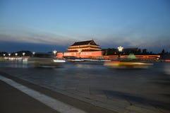 Peking Forbidden City på natten royaltyfria bilder