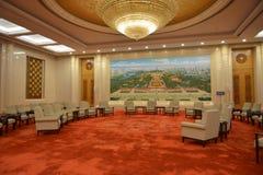 Peking Hall i den stora korridoren av folket i Peking, Kina Arkivbilder