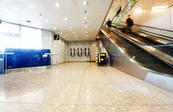 Peking-Hauptflughafen-Münztelefonecke Stockbilder