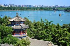 Peking het cityscape-meer van het Paleis van de Zomer royalty-vrije stock afbeeldingen