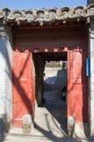 Peking hutong stock afbeelding