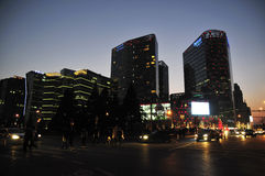 Peking i aftonen Arkivbilder