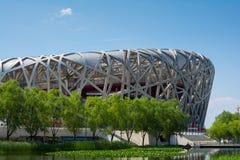 PEKING - 7. JULI: Das Peking-Nationalstadion Lizenzfreies Stockbild