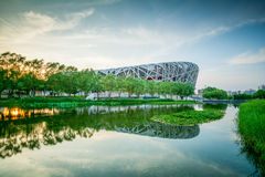 PEKING - 7. JULI: Das Peking-Nationalstadion Lizenzfreie Stockbilder