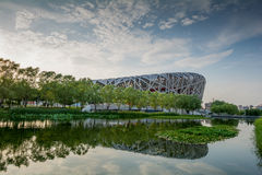 PEKING - 7. JULI: Das Peking-Nationalstadion Lizenzfreies Stockfoto