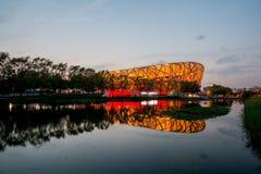 PEKING - 7. JULI: Das Peking-Nationalstadion Stockfotos