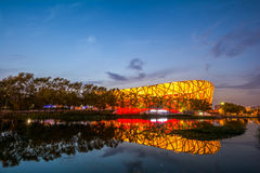 PEKING - 7. JULI: Das Peking-Nationalstadion Lizenzfreies Stockbild