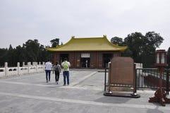 Peking, 7. kann: Kostüme legen von Himmelstempel den Kaiserkomplex von religiösen Gebäuden in Peking stockfotografie