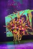 Peking Kina - Maj 16, 2018: Skådespelartrupp som utför i traditionellt royaltyfri bild