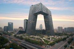 Peking Kina - Oktober 22, 2017: Stad för Peking för Kina ` s, en famo royaltyfri bild
