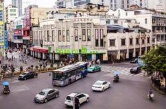 Peking Lu is één van het hoofd winkelen van Guangzhou s royalty-vrije stock foto's