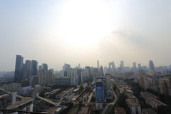 Peking-Luftverschmutzung Lizenzfreie Stockbilder