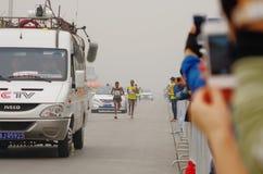Peking-Marathon 2014 Lizenzfreie Stockfotos