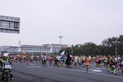 Peking-Marathon 2016 Lizenzfreie Stockfotos