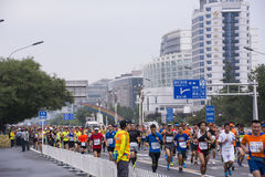Peking-Marathon 2016 Lizenzfreies Stockfoto
