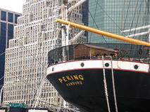 Peking, a 1932 Merchant vessel. The Peking is a steel-hulled four-masted barque. A so-called Flying P-Liner of the German company F. Laeisz, it was one of the Stock Photography