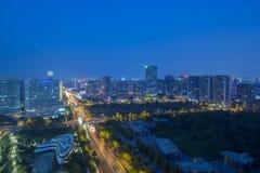 Peking-Nachtszene Stockbild