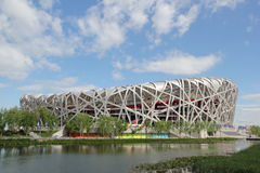 Peking-nationales olympisches Stadion/Nest des Vogels Lizenzfreie Stockfotos