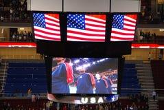 Peking-olympische Korbkugel Arena gesetzt in Service Stockbilder